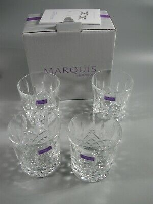 4 Marquis by Waterford Markham Double Old Fashioned Glasses NEW 165118