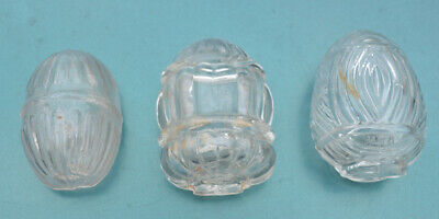 3 Clear Glass Bird Cage Feeders / Water
