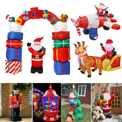 Adorable Large Christmas Inflatable Toys Auto Blown up Santa Claus Arch Solldier