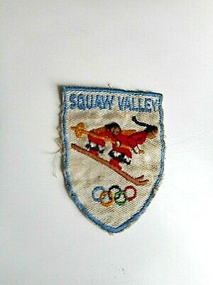Vintage Olympic Rings SQUAW VALLEY SNOW SKI RESORT AREA California Patch pin