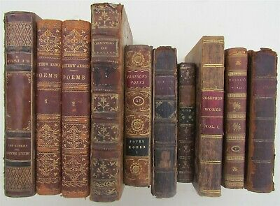 LOT of 10 ANTIQUE DECORATIVE BINDINGS BOOKS 18th-19th CENTURY