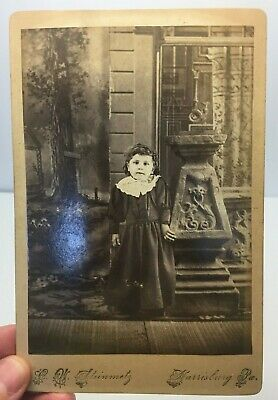 1880's Cabinet Card Photo Scared Little Girl by CW Steinmetz, Harrisburg, PA *A3