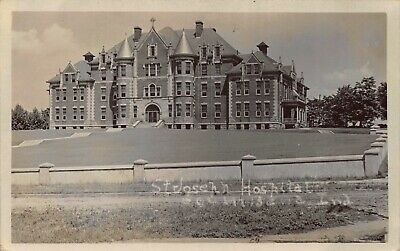 Real Photo Postcard St. Joseph Hospital in South Bend, Indiana~123744