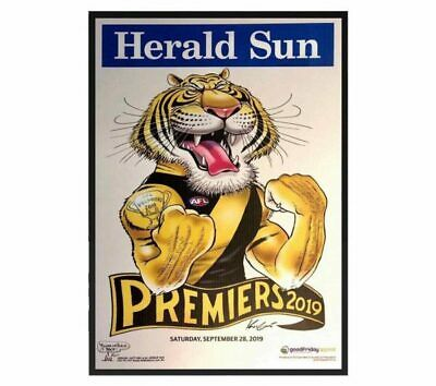 Richmond Tigers – 2019 Afl Grand Final Premiership Mark Knight Framed Print