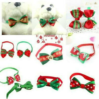 Christmas Dog Cat Pet Grooming Cute Bow Tie Adjustable Puppy Necktie Collar