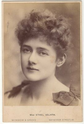 *Victorian Actress & Great Beauty Ethel Selwyn Magnificent 1888 Cabinet Photo*