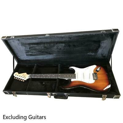 Artificial Leather Covered Wood Electric Guitar Case Lockable Hard-Shell Case