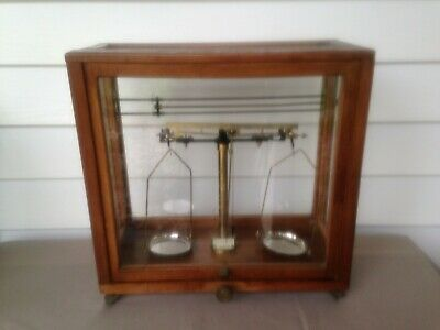 Fabulous Antique Scales in Cedar Display Case!