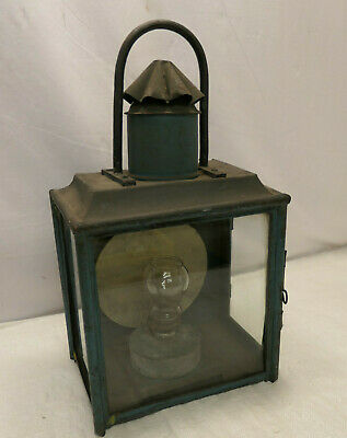 Vintage Tin and Glass Oil Ship's Light Kerosene Lamp Japanese   #53