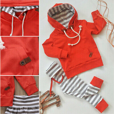 Baby Boy Girl Toddler Long Sleeve Hoody+Pants Trousers Set Tracksuit Clothes