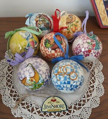 Jim Shore 12 Days of Christmas Ornament Bauble Heartwood Creek Set