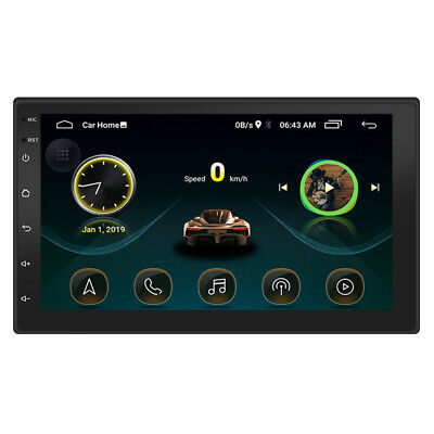 "Android 8.1 GPS Navigation WiFi 7"" 2Din Quad Core Car Stereo MP5 Player Radio FM"