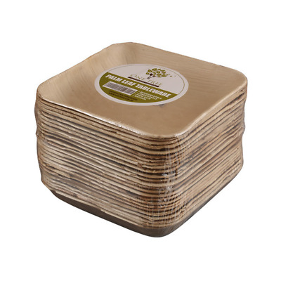 One Tree Palm Leaf Deep Square Bowl – 200mm – 100 Pack