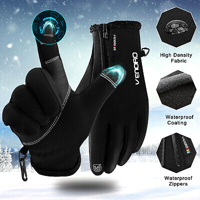 -10℃ Men Women Winter Gloves Warm Touch Screen Waterproof for Motorcycle Ski Gym