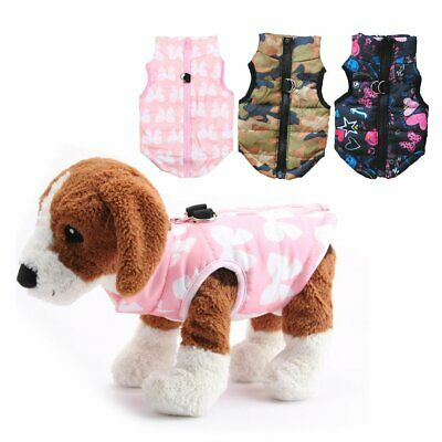 Pet Dog Soft Padded Vest Coat Cat Puppy Doggy Warm Jacket Clothes Apparel NEW TN