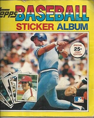 Vintage 1980 Topps ML Baseball Sticker Album Almost Completed