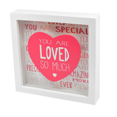 Message Of Love You Are Loved Light Up Box Frame Lovely Gift Idea