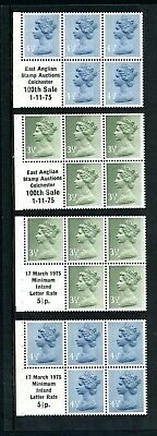 Machin Booklet Panes with 1975 Private Overprint (4) unmounted MINT   (O550)