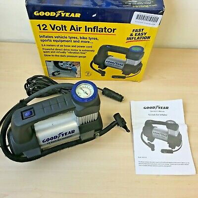 Good Year 12V Car Air Compressor Tyre / Boat / Pool Pump Inflator *BOXED*