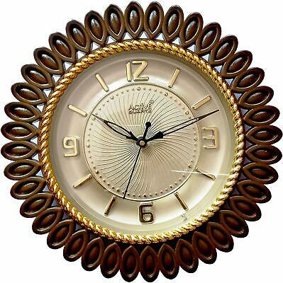 Wall Clock Beautiful Active Quartz Rose Gold Ideal for living room Office New