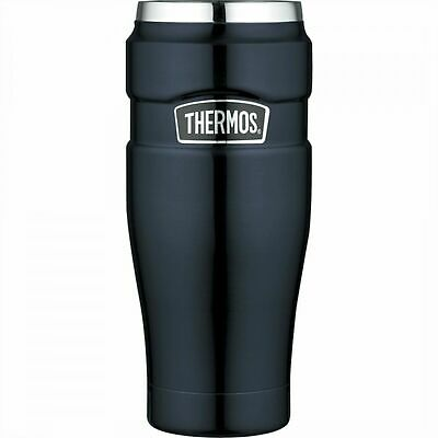 Thermos Flask King Travel Insulated Leak Proof Tumbler -  470ml Cranberry BLUE