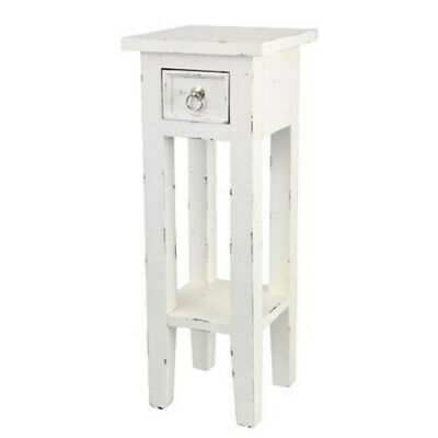Side Table Mahogany Antique Design White Night Table Used Look Telephone Table