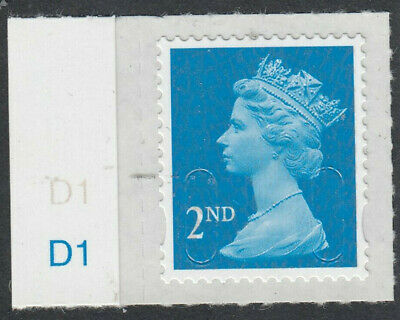 GB 2017 2nd CLASS SELF ADHESIVE MACHIN CODE M17L CYLINDER D1 on SELVEDGE MNH