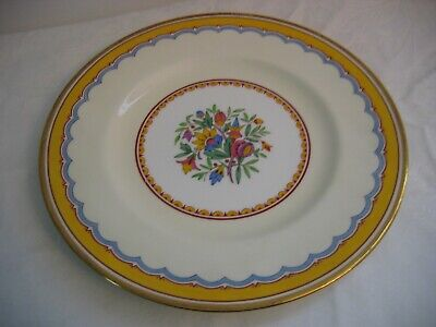 Antique MINTON'S for TIFFANY 11 Cake Plates Raised Flowers Gold Rims