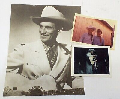 Lot of Vintage ERNEST TUBBS Photos + AUTOGRAPH SIGNED PHOTO BY TUBBS & BAND