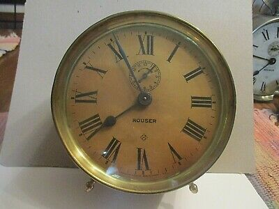 """Ansonia """"Rouser""""  7 1/2""""  Clock Running    Antique Collectible"""