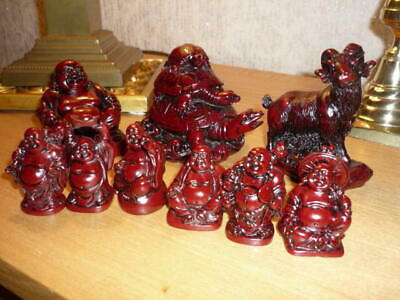 Chinese Resin FENG SHUI Figures collection ( 9 in total)
