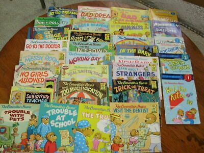 30 Berenstain Bears children's picture book lot First Time Leveled Early Readers