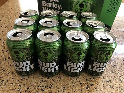 Bud Light Area 51 Special Edition Cans (12 Cans With Box) Alien Beer
