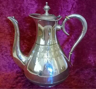Lovely Antique Silver Plated Coffee Pot by Latham & Morton Birmingham Victorian