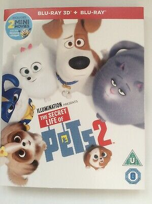 The Secret Life Of Pets 2 3D And 2D Blu-ray *Slipcover Included, Region Free