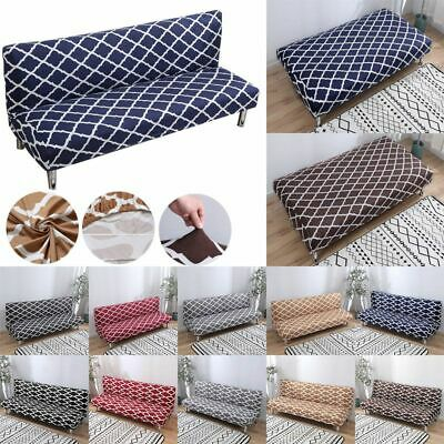 Stretch Geometry lattice Sofa Cover Full Folding Armless Elastic Couch Slipcover