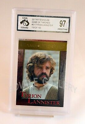 Tyrion Lannister Game Of Thrones Gold Card Graded Pristine