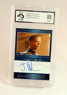Jacob Anderson Game Of Thrones Auto Card Graded Mint