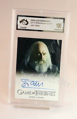 John Stahl Game Of Thrones Auto Card Graded Pristine