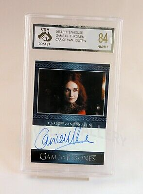 Carice Van Houten Game Of Thrones Auto Card Graded Near Mint Mint
