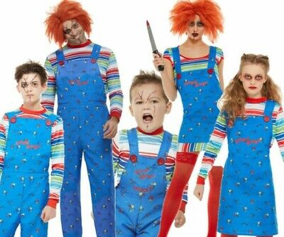 Child Play Chucky Terror Halloween Scary Costume Cosplay Party Doll Fancy Dress