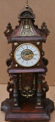 Scruffy But Ornate Looking Wooden Clock Case To Tidy Up Or Restore