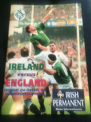 ENGLAND GRAND SLAM YEAR v Ireland 1995  RUGBY Five Nations Programme