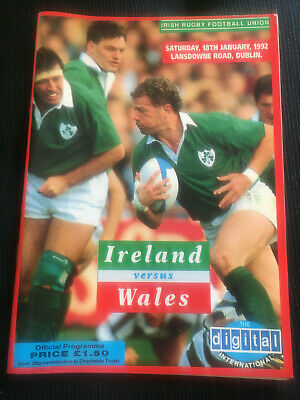 IRELAND v Wales 1992 Five Nations RUGBY Programme