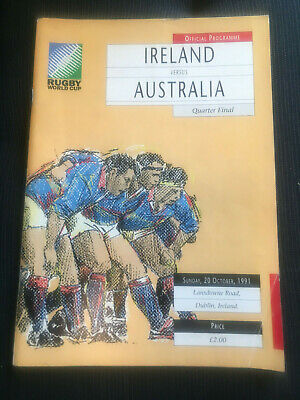 IRELAND v Australia 1991 RUGBY World Cup QF Programme