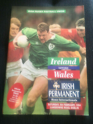 IRELAND v Wales1994 Five Nations RUGBY Programme