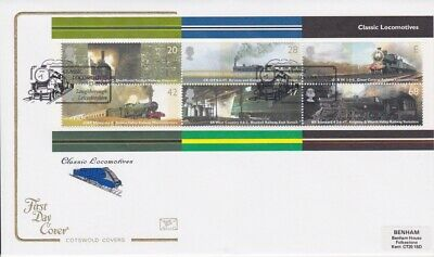 Gb Stamps Mini Sheet First Day Cover 2004 Railways Superb Cotswold Collection