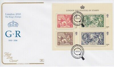 Gb Stamps Mini Sheet First Day Cover 2010 Festival Superb Cotswold Collection