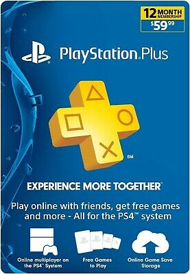 Playstation Plus 12 Monate Months- 365 Tage/Days -PSN 1 Jahr/Year PS Key Code US