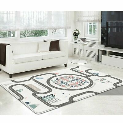 Large Baby Crawling Play Mat Non Slip Double Sided Folding Carpet Urban Truck